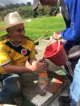 Don Pedro preparing Norwegian paint