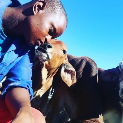 Kitsoyaone on his cattle farm