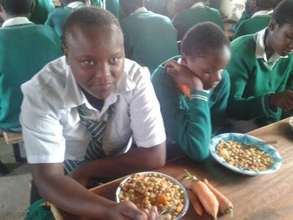 Lunchtime at Mahiga Hope High