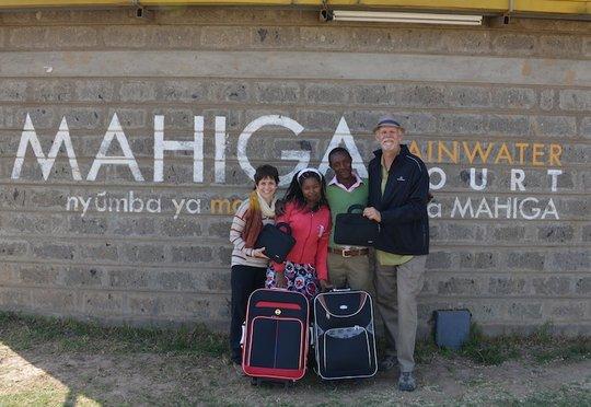 Caroline,Boniface, laptops & bags, off to college!