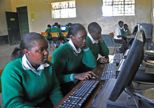 Computer Class on the new Dell Computers at Mahiga