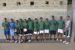 Championship Mahiga girls and boys basketball team