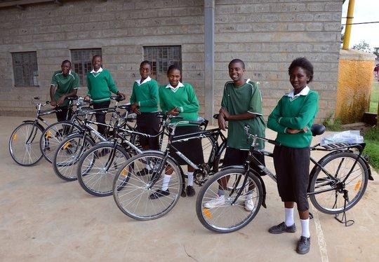 Miriam and other bike scholars at Mahiga