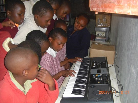 Music Class at Mahiga Hope High School