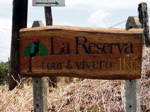 La Reserva sign at headquarters