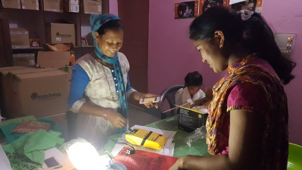 Lalita at work in her community