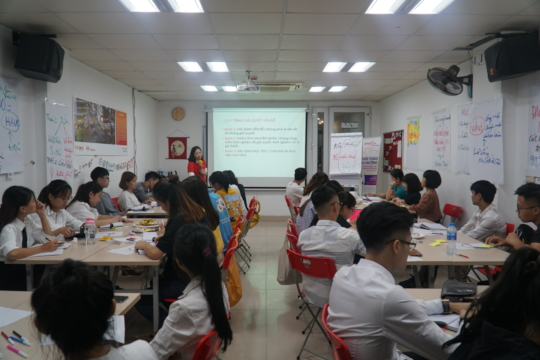 """Training course with the topic """"Managing goals"""""""