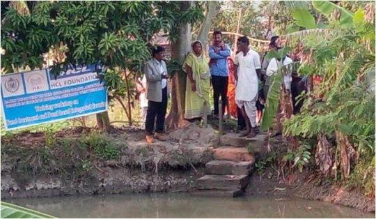 Field training Pond Restoring & Integrated Farming
