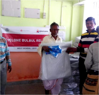 With relief materials for Family Members