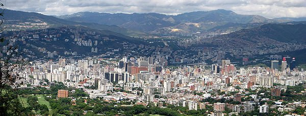 The view of Caracas from La Pradera