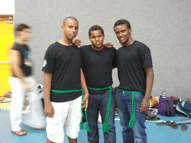 Receiving Capoeira Belts