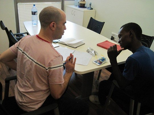 Tazazo, a Star Program participant, studies math