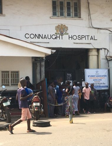 Dr. Lebbie works at Connaught Hospital in Freetown