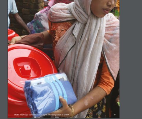 Rohingya Woman with Dignity Kit