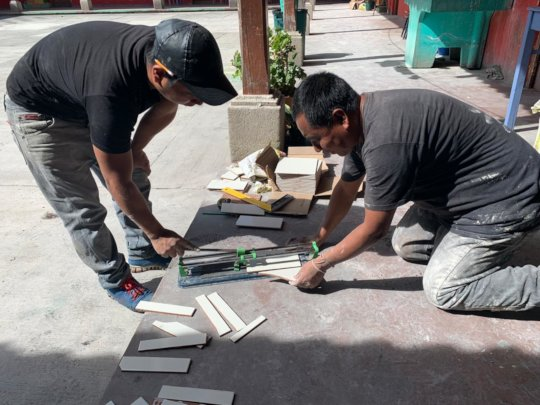 Cutting Tile For Our Floors and Walls