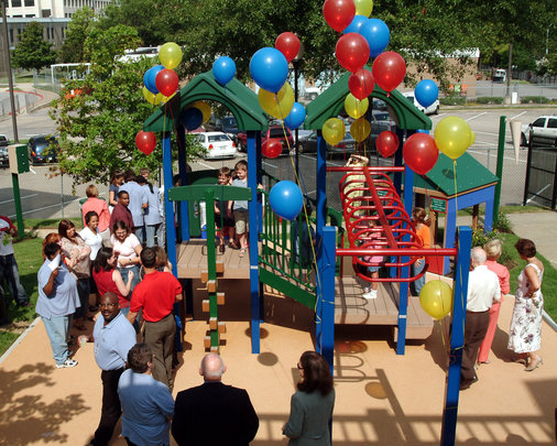 The playground dedication