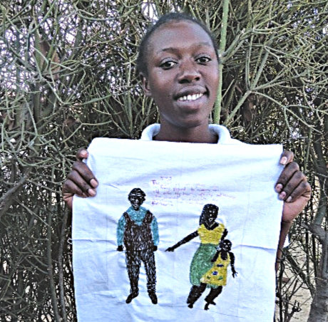 Kundai uses embroidery to denounce child marriage