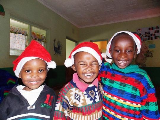 The Boys looking festive