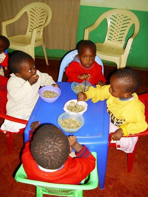 Feeding themselves