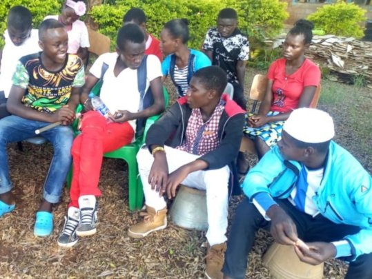 Reintegrated children get together