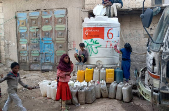 Critical water tanks refilled in northern Yemen.