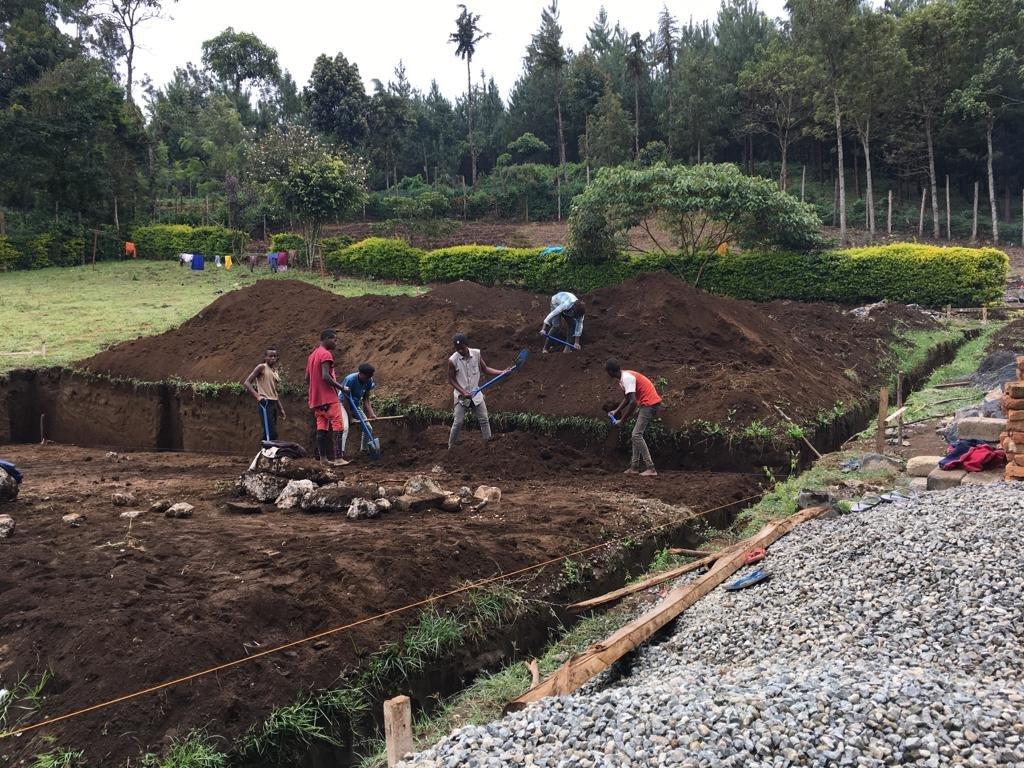 Foundation getting dug