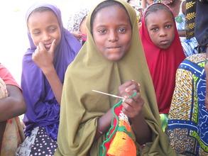 Azahara Mohamed learning practical skills