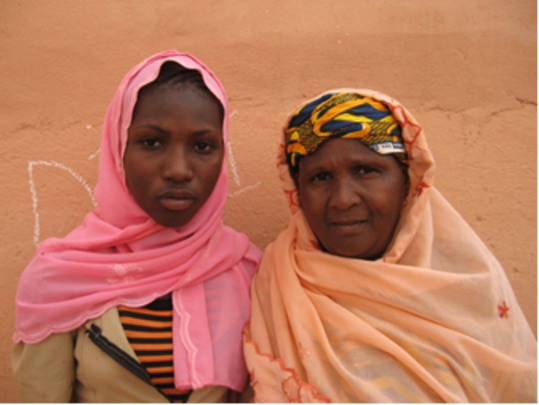 Fatima and her mentor Mariama