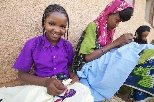 Fatima proud of her work.