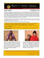 RAIN Newsletter: Girls Scholarship and Mentoring Program (PDF)