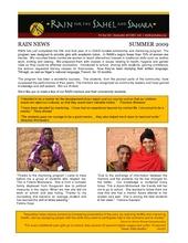 RAIN Newsletter: Girls Scholarship and Mentoring Program (PDF)
