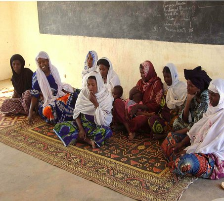 Women mentors in Gougaram at their first training.