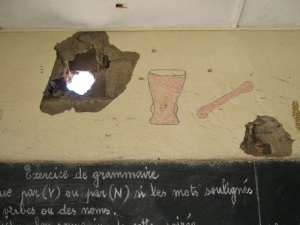 Walls of a school in Tadek