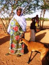 Akokan Mentor President Marie Jasmine with Goat