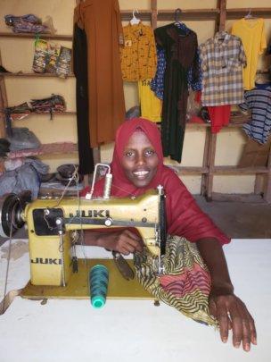 Abdia at her shope