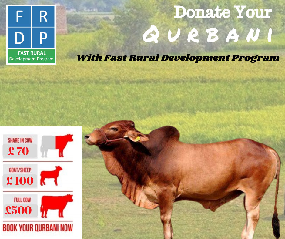 Donate your Qurbani 2019 to FRDP