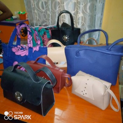 Handbags made by ChildVoice students