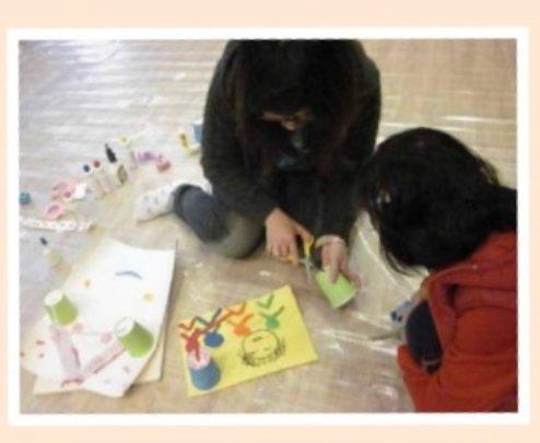 children express their emotion via art work
