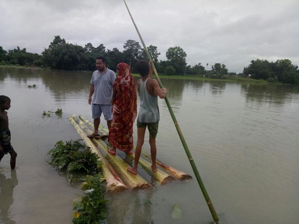 Urgent support for Assam & Bihar flood victims