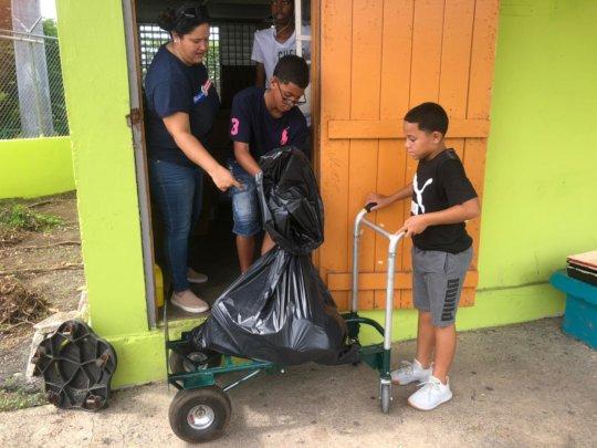 Community Kids Helping to Clean School