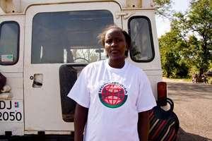 Alice Amwony - heading to Village HIV workshop