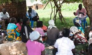 HIV-AIDS Awareness workshop held under tree