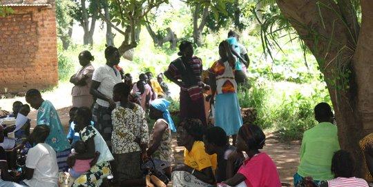Local HIV-AIDs workshop held under tree