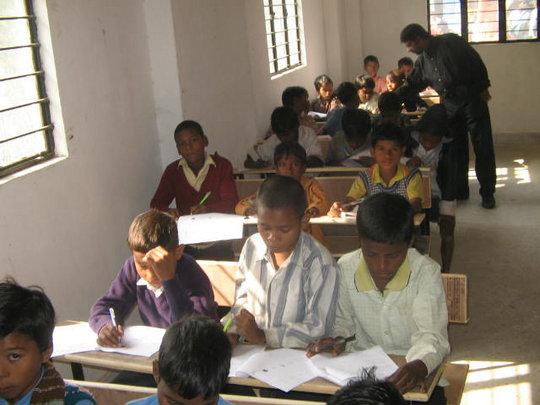 Musahar children taking admission test