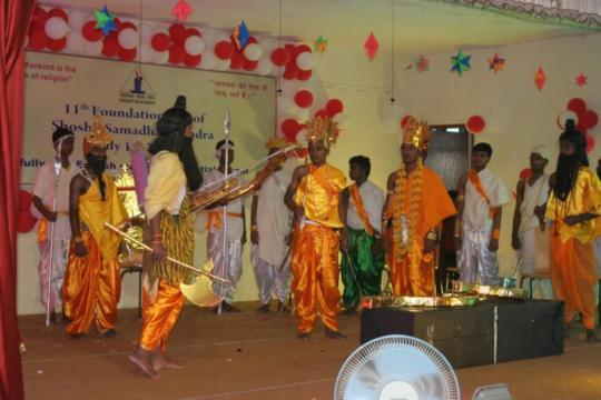 A scene from Ramayan performed by SSK students