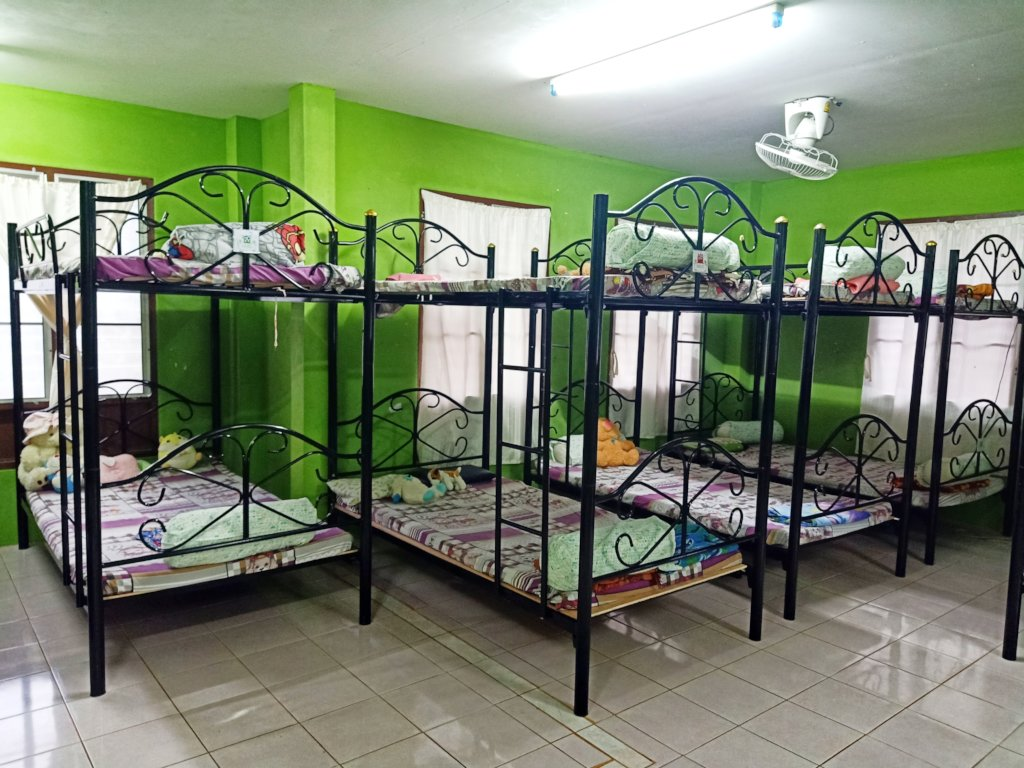 New bunk beds at Kindergarten dormitory