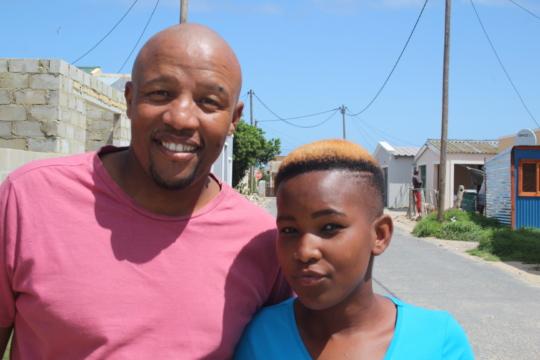 Joel Martins and Pinky Khowa (the Zwelihle team)
