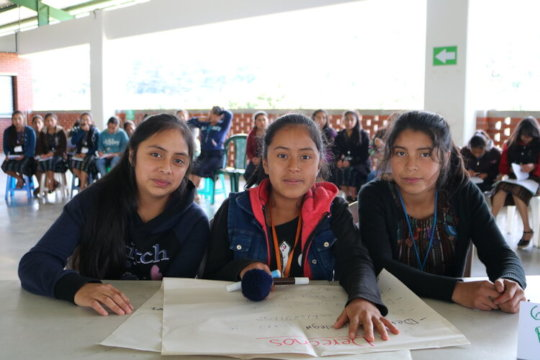 Girl Pioneers at Girls' Bill of Rights activity