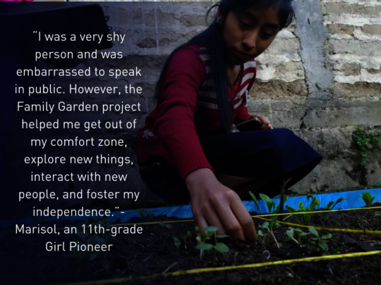 Marisol a Girl Pioneer at the MAIA Impact School