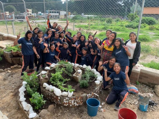 Girl Pioneers at the Impact School Zayed Garden